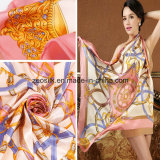 90*90cm Quality Newest Shawl Style Digital Printing Silk Scarf