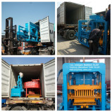 Delivery QT4-18 automatic hydraulic block machine to Pure