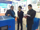 Customers on booth