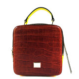 Fashionable Candy Color Leather Women Satchel Bag /China Wholesal B1603-1
