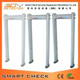 6 zone cylindrical walk through metal detector door frame metal detector