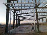 standard steel workshop installation on construction site