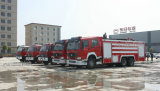 5 Sets Sinotruk Howo 16CBM 16Ton Euro 4 Fire Truck for Singapore