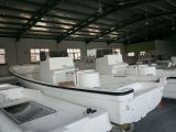 Fiberglass boat workshop