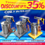 Discount for powder coating machine in Feb 2017