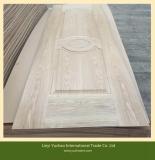 Natural veneer faced mould door skin hdf