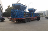 Shipping EPM horizontal baler to Shanghai port