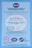 Certificate of Quality Management System ISO9001-2008