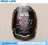 Custom Metal Wine Label Bottle Sticker