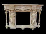 Egyptian Beige marble fireplace