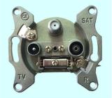 5-2400MHz TV+FM+SAT Wall Socket (SHJ-TWS002)