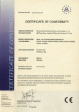 Certification Of Conformity (CE Certificate)