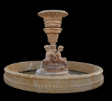 yellow marble fountain