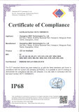 IP68 Certificate of Compliance