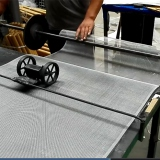 Workshop of aluminum Alloy Wire mesh