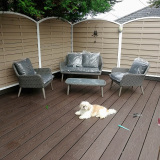 Ireland 3D embossed outdoor patio composite decking projects