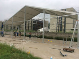 Large a shape tent in Angola with SGS