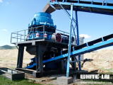 200T/h pebbles crushing plant in Mongolia