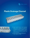 PLASTIC DRAINAGE CHANNEL