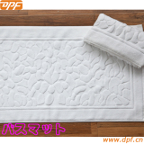 100% cotton cutting pile luxury hotel bath mat