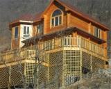 Larch / Pine Wood Thermal Break Aluminum Casement Window for Villa