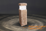 Rattan Effect Bollard Solar Light