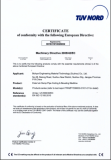 CE Certificate of External-Clamp Pipe Cutting & Beveling Machine