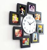 Antique Handmade Wooden Square Clock Frame for Home Decoration