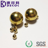 "Low Cost Yellow Brass Plated Carbon Steel Ball 1"" Steel Ball with Hole"
