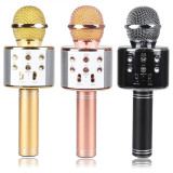 New Portable Bluetooth Wireless Ws-858 Stereo KTV Karaoke Microphone Support TF Card for Samrt Phone
