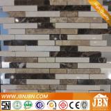 External Garden, Balcony Wall Emperador Marble Stone Mosaic (S855001)