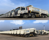 CIMC HUAJUN HIGH TENSILE STEEL DUMP TRUCK EXPORTED TO MIDDLE EAST IN LARGE SACLE IN NOV. 2015