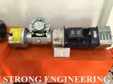 Worm gear power unit with double brake