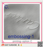 microfiber cloth with embssing logo
