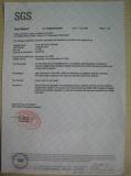 SGS report of PVC straw