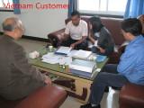 Vietnam customer was talking high efficiency Hepa air filter with us