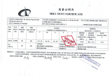 Mill Test Certificate-ASTM A283Grade C Steel Plate