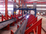 Step3 of Steel Structure Processing Technical Flow-Gantry submerged arc welding