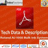 TDS & Description for Roland AJ-1000 Bulk Ink System