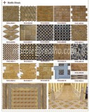 Imperial Gold Marble Stone Mosaic Tile Series