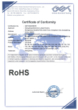 CE - RoHS certificated for LED bulbs
