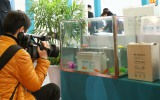 TV interview on our waterproof battery at Yangzhou renewable energy show