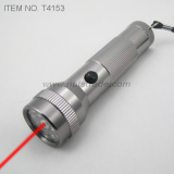 15 LED Flashlight with Laser Pointer (T4153)