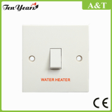CE Approved 20 AMP 1 Gang Double Pole Switch Engraved ′water Heater′