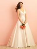 a-Line V-Neck Sleeveless Floor Length Wedding Dress (Dream-100020)
