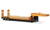 Hot Sale 40ton Low Flat Bed Semi TrailerUsed for Transport Heavy Machinery