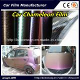 Chameleon Carbon Fiber Car Wrap Vinyl Roll Film Car Wrap Film, Chameleon Vinyl Film