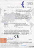 2012 CE certificate for BOWAY paper cutter 450 460 520 670