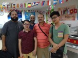 Joe meeting friends from Algeria