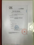 CRC certificate for eco solvent inks/Solvent inks/Subliamtion inks